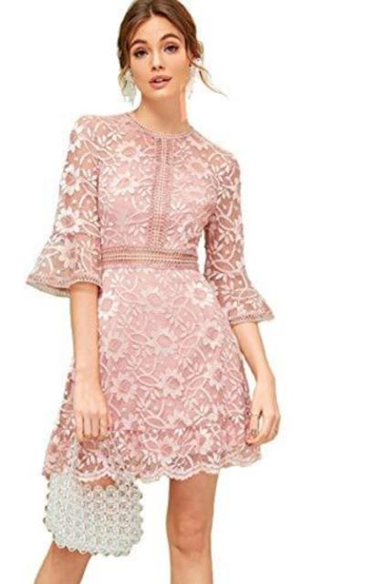 Milumia Lace Flounce Dress