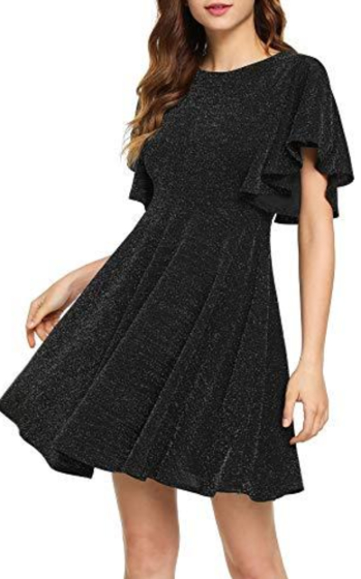 ROMWE Stretchy A Line Swing Flared Skater Dress