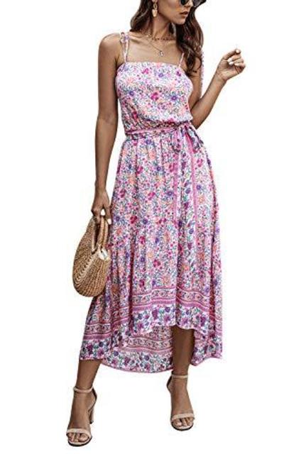 SHIBEVER Floral Sun Dress
