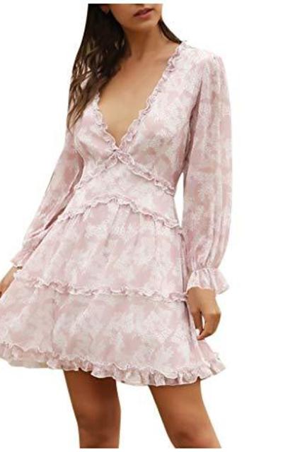 90sMuse Floral Short Dress