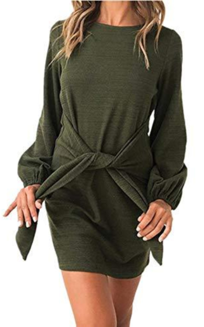 Xuan2Xuan3 Knot Pullover Sweatshirt Dress