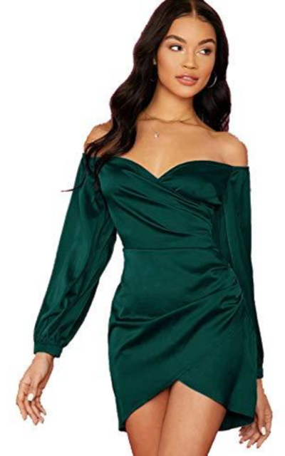 Verdusa Off Shoulder Asymmetrical Hem Dress