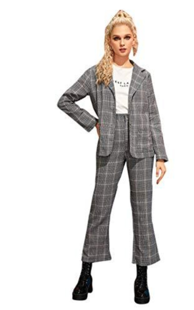 MAKEMECHIC 2 Piece Plaid Suit