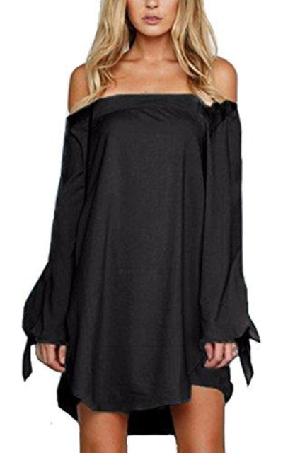 StyleDome Off The Shoulder Mini Dress