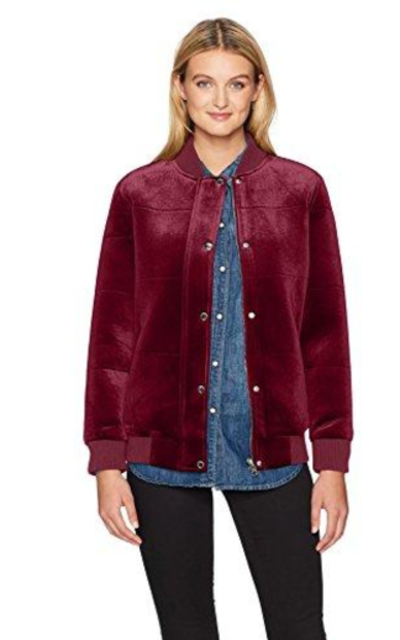 Members Only Velvet Bomber Jacket