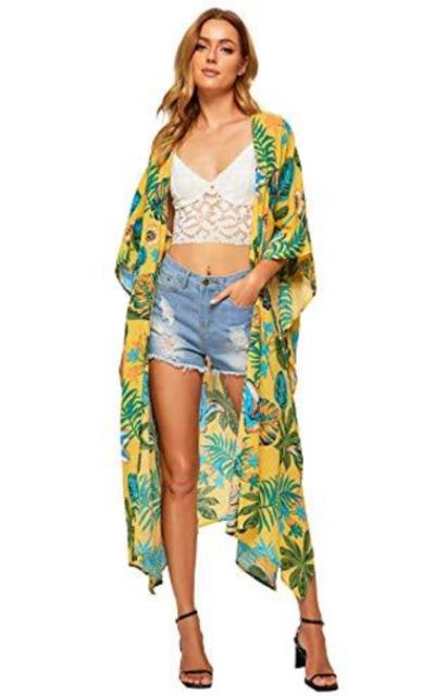 SweatyRocks  Flowy Kimono Cardigan