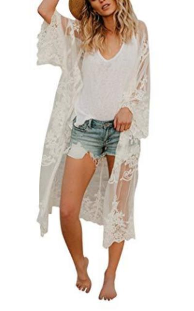 Lace Crochet Coverup