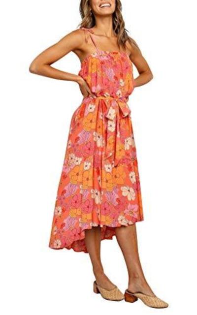 Floral Swing Midi Dress