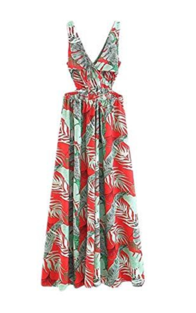 Floerns h Floral Print Maxi Dress