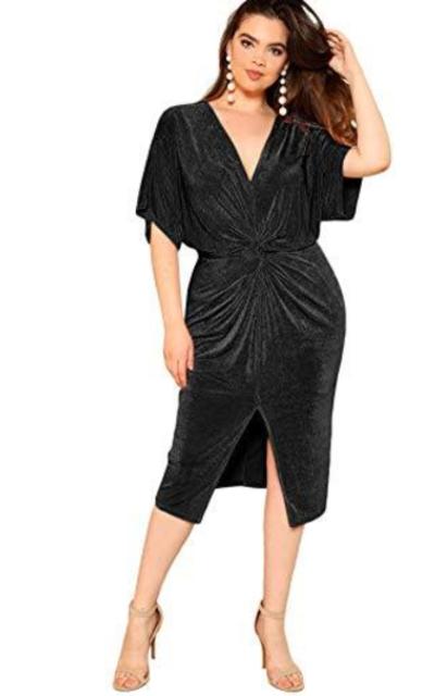 Floerns Split Midi Dress