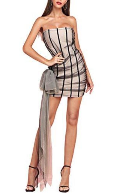 Sunlen Strapless Bodycon Midi Dress