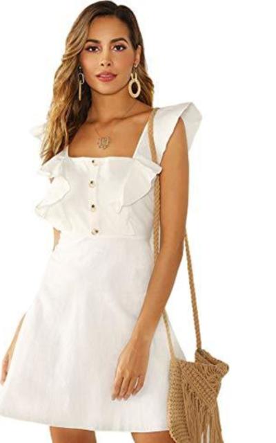 ROMWE Ruffle Short Dress