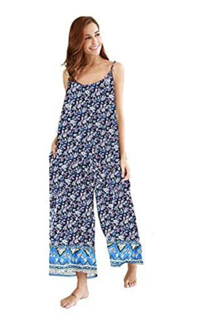 Wexcen Floral Printed Jumpsuits