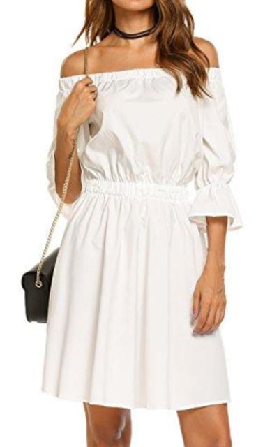 Zeagoo Off Shoulder Mini Dress