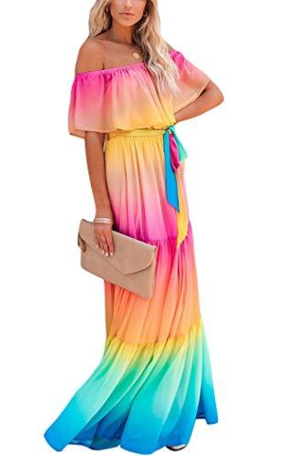 Boho Pleated Long Dress