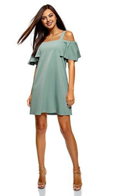 oodji Ultra Relaxed-Fit Off-Shoulder Dress