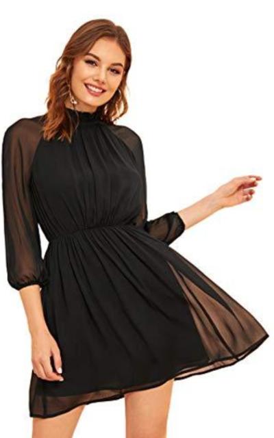 SOLY HUX Sheer Mini Dress