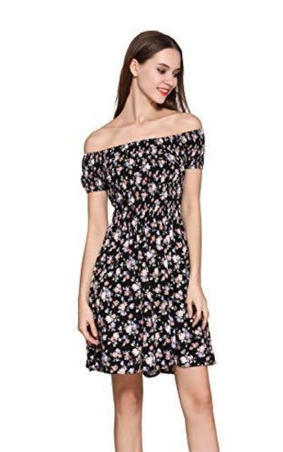 Off The Shoulder Floral Swing Dress