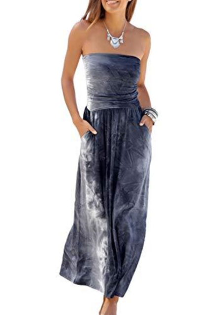 Happy Sailed Bandeau Summer Maxi Dress