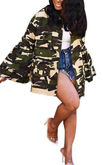 Antique Style  Camouflage Jacket