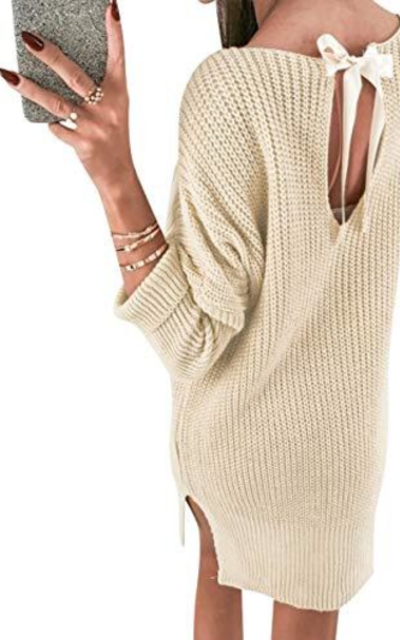 MsLure Mini Sweater Dress