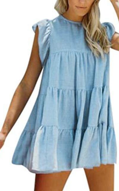 Sunmoot Short Sleeve Babydoll Dress