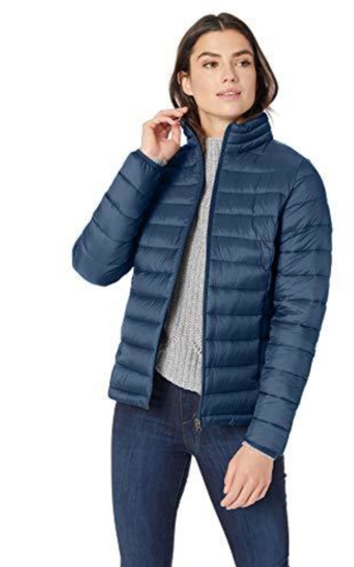 Amazon Essentials Lightweight Water-Resistant Packable Puffer Jacket