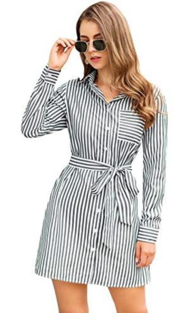 Milumia Striped Shirt Dress