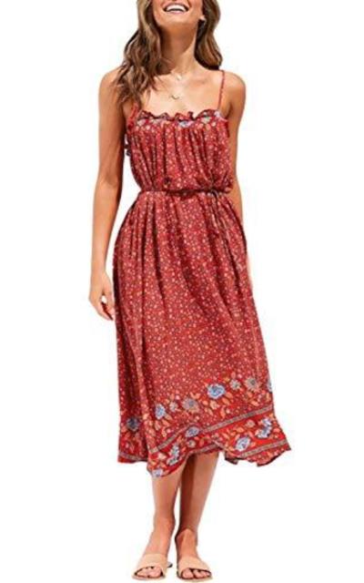 ZESICA Swing Midi Dress
