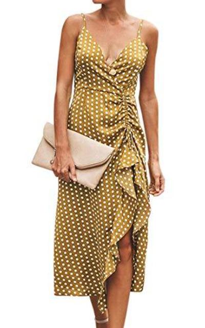 MOOSLOVER Polka Dot Midi Dress