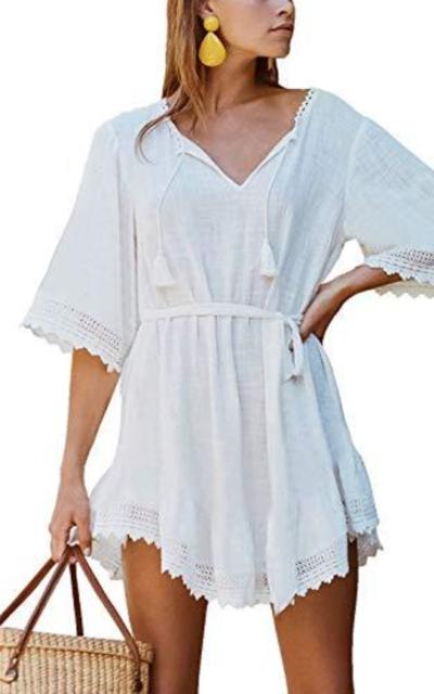 FaroDor Cotton Crochet Swimwear Cover Up
