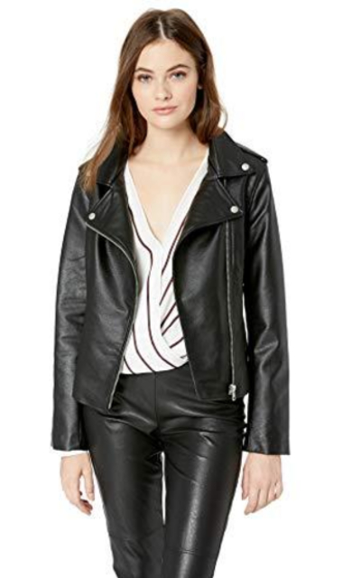 BB Dakota Vegan Leather Moto Jacket