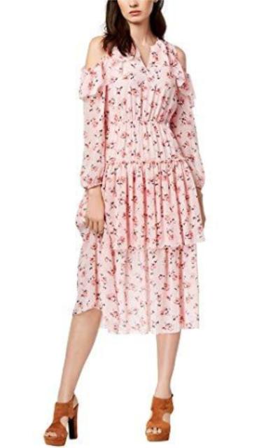 Maison Jules Cold-Shoulder Flounce Dress