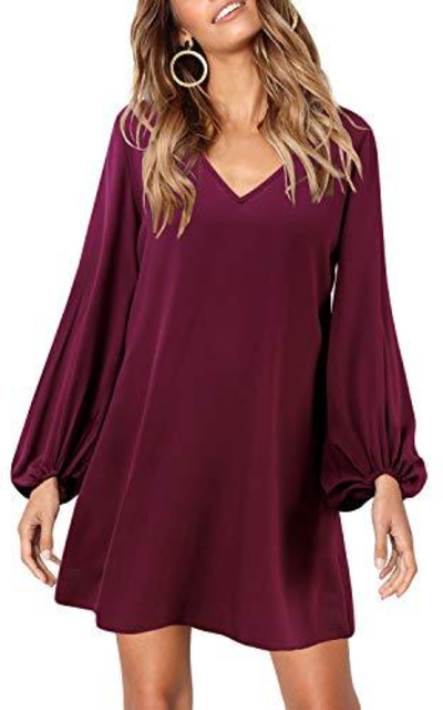 SOLERSUN  Lantern Sleeve Mini Dress