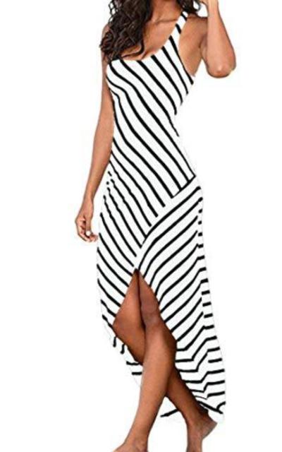 Kancystore Striped Maxi Dress