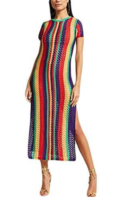 Ailunsnika Knitted Cover Up Dress