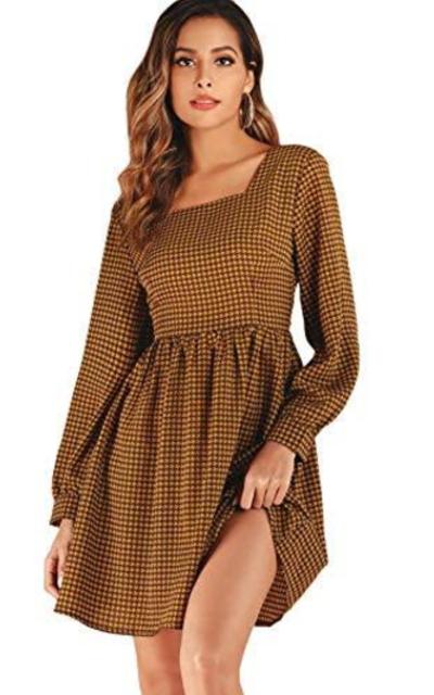 ROMWE Square Neck Dress