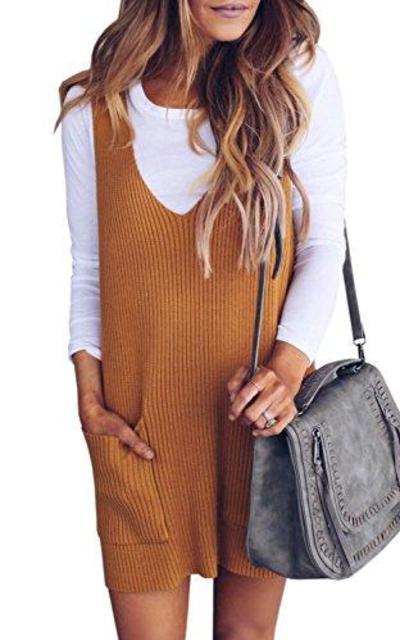 Imily Bela Ribbed Knitted Shift Dress
