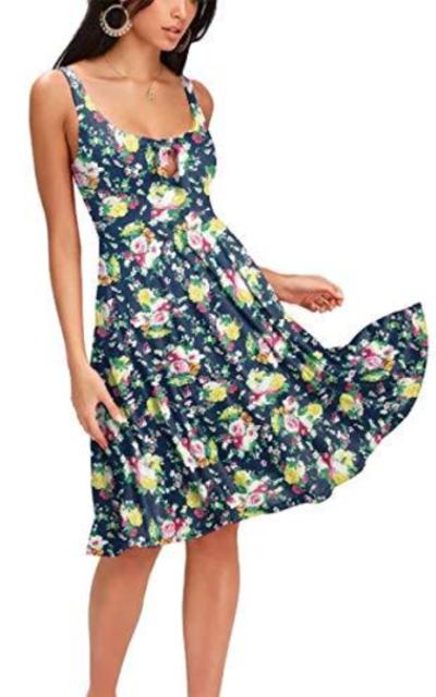 Privathinker Floral Flower Midi Dress