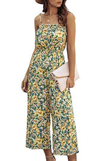 BTFBM  Floral Print Ruffle Jumpsuit