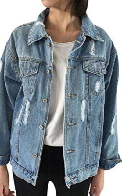 JUDYBRIDAL Oversize Denim Jacket