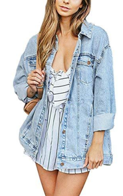 just quella Oversized Denim Jacket