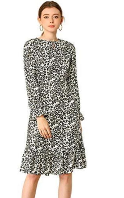 Allegra K Leopard Dress