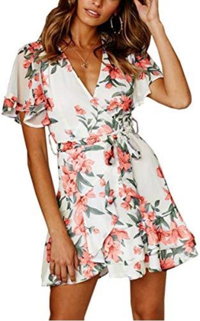 Angashion Ruffle Mini Dress