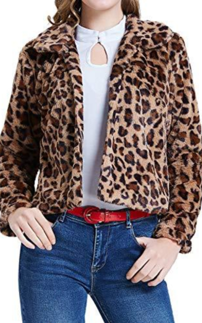 Winter Faux Fur Leopard Jacket
