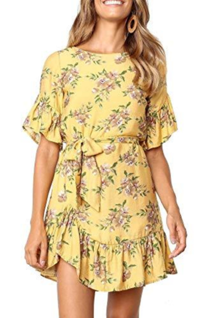 Geckatte Ruffle Floral Dress