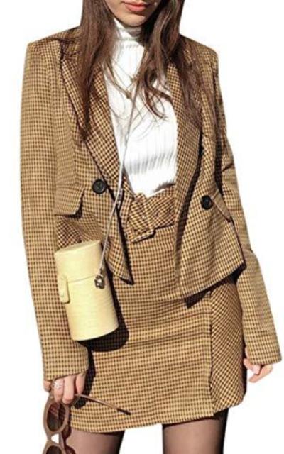 Sollinarry Plaid Slim Fit Blazer