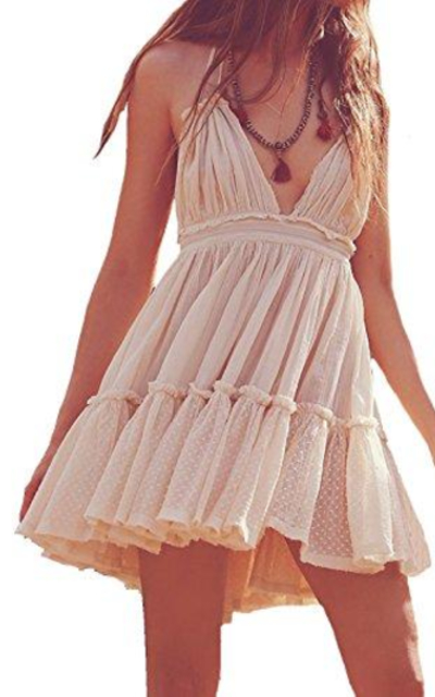 R.Vivimos Halter Mini Short Dress