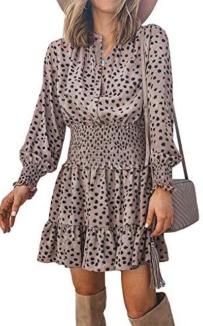 Kaei&Shi Leopard Dress