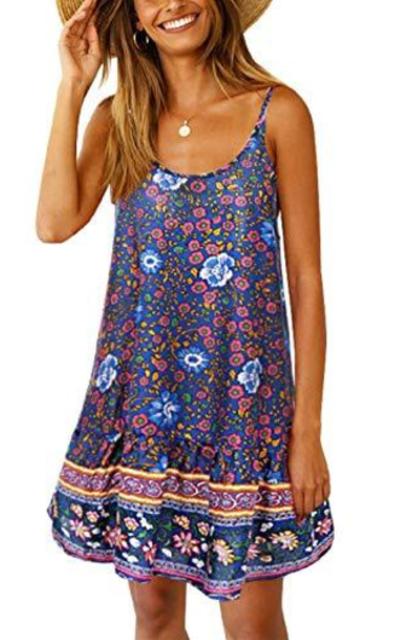 SHIBEVER Floral Printed Dress
